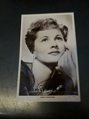 Autograph Picturegoer Postcard Signed By Joan Fountain