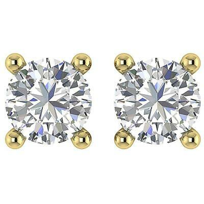 Studs Earrings Screw Back I1 G 0.50 Ct Round Diamond 14K White Yellow Rose Gold