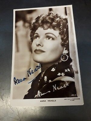 Autograph Postcard Signed By  Anna Neagle