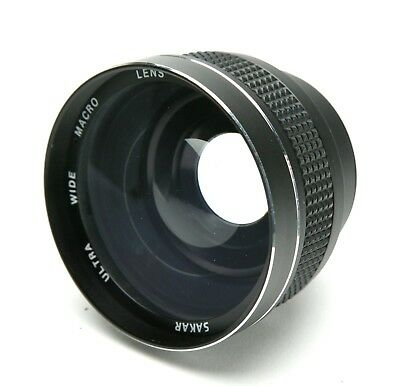 Sakar Ultra Wide Angle & Macro 0.6x Video Lens With 54mm Thread. Japan. Clean.