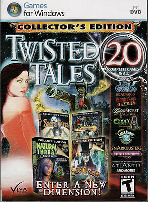 SNARK BUSTERS HIGH SOCIETY Hidden Object TWISTED TALES 20 PACK PC Game NEW
