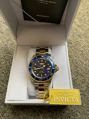 Invicta Men's 40mm Pro Diver Automatic Royal Blue Dial Two-tone SS Bracelet Watc