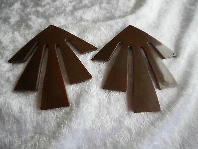 Antique Deco Vintage Bakelite? 1930's Brown Hat Buckles make fab earrings or?