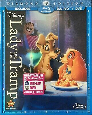 Lady and the Tramp Blu-Ray - DVD - 2 Disc Set - Diamond Edition - NEW, SEALED