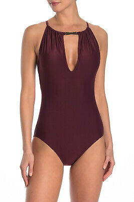 28000f62d24 $120 KATE SPADE Crescent Bay Plunge One Piece Swimsuit Size M Medium ...