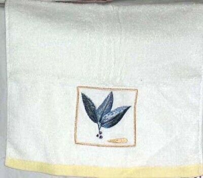 CHAPEL HILL HAND Towel Embroidered Leaves Gazebo Bathroom Terry Cloth  Cotton NEW