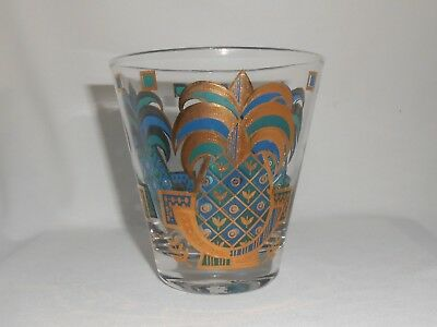 Georges Briard Glassware Mid Century Pineapple Rocks Old Fashioned Glass