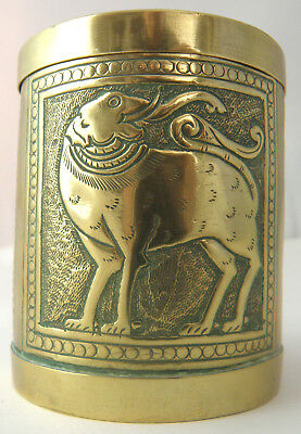 A stunning Antique PERSIAN BRASS TIN   -   Beautiful and Traditional HAND BEATEN