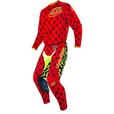 Troy Lee Designs TLD GP Air Anarchy Red Yellow Off Road MX Gear Set Large / 34