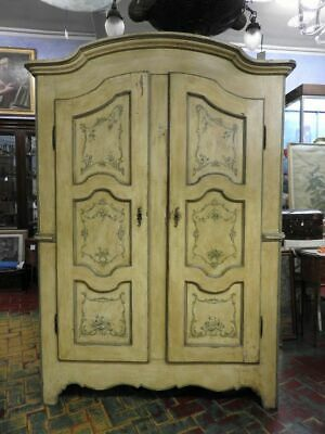 Wonderful Antique Cabinet Of 700 Piedmont Lacquered And Painting
