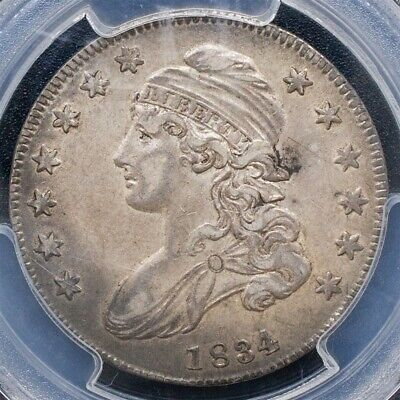 1834 Capped Bust Half Dollar, Overton O-121 - Sm. Date/Sm. Letters - PCGS XF45