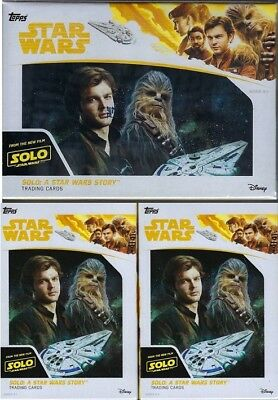 2018 Topps Solo A Star Wars Story Movie Cards 1-61ct Blaster Bx+2-16ct Hanger Bx