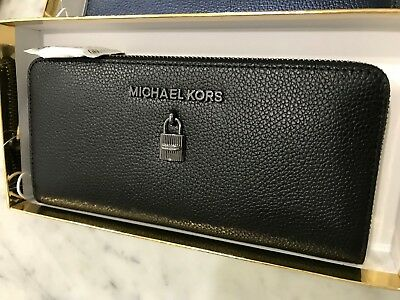 b9844d78082a Michael Kors Adele Continental Zip Around Clutch Wallet in Gift Box Msrp  168.00