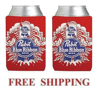 PABST BLUE RIBBON PBR 4 BEER CAN COOLERS KOOZIE COOLIE HUGGIE COOZIE NEW