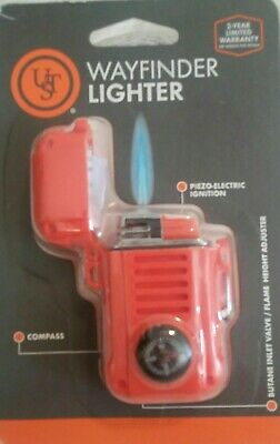 Butane Lighter Fire Starter Wayfinder With Compass - Windproof Lot#C12