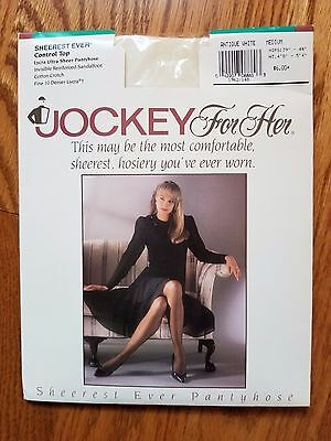 9900f5dbd47f9 Vintage Jockey For Her Sheer Control Top Pantyhose Color Antique White  Medium
