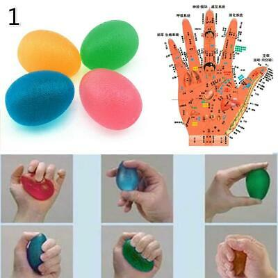 Gel Egg Ball Hand Stress Finger Relax Exercise Squeeze Adults Relief Toys AU D