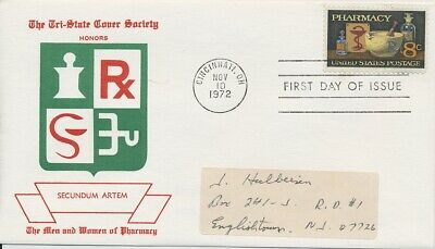 #1473 Pharmacy Tri State Cover society cachet First Day cover