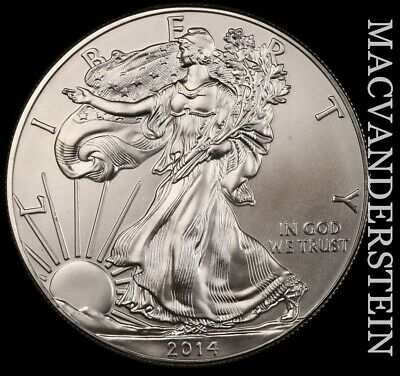 2014 American Silver Eagle- No Reserve !! Choice Gem Brilliant Unc !! #e8497