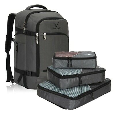 Hynes Eagle 40L Flight Approved Carry on Backpack Travel luggage Packing Cubes