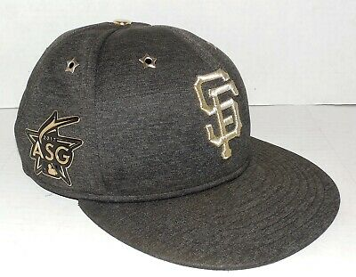 buy online 0eb88 1bd67 San Francisco Giants New Era Cap 2017 MLB All-Star Game Patch Fitted Hat 7.5