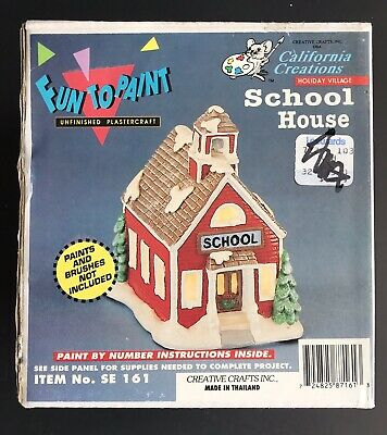 1988 Rare California Creations School House Ready To Paint Vintage (New)