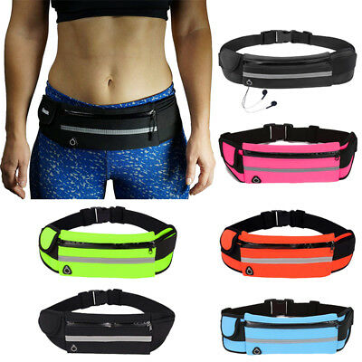 Unisex Running Belt Sport Jogging Key Mobile Money Bum Bag Waist Travel Pouch AU