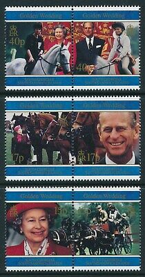 1997 South Georgia Royal Golden Wedding Anniversary Set Of 6 Fine Mint Mnh