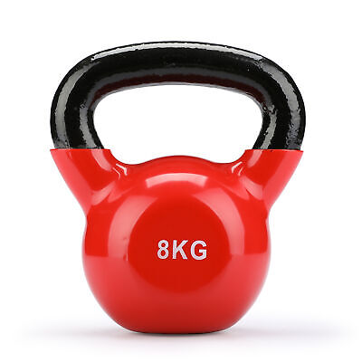 8kg Cast Iron Kettlebells Weight Strength Training Kettlebell Exercise Gym.