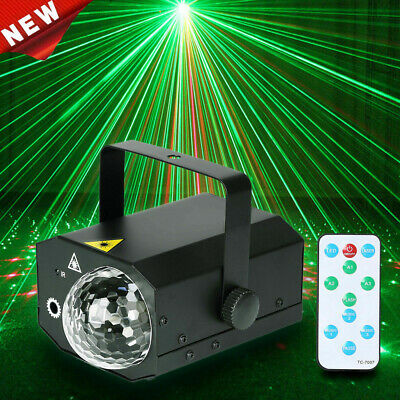 16 in 1 Sound Active Stage Lighting LED Laser RGB Club X'mas Disco Party Light
