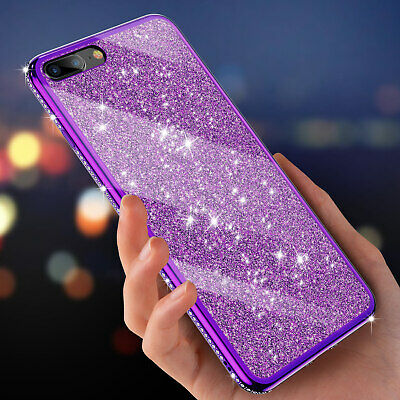 18abfd220d For iPhone X XS Max XR 8 7 6s Plus Luxury Diamond Bling Glitter Soft Case