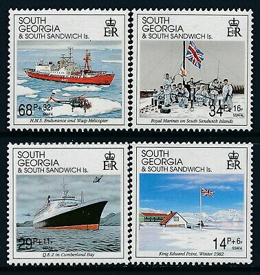 1992 SOUTH GEORGIA 10th ANNIVERSARY OF LIBERATION SET OF 4 FINE MINT MNH
