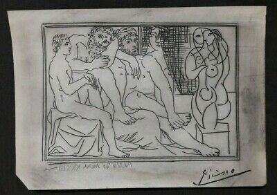 Pablo Picasso - Drawing On Paper - Art - Signed Artwork, Original