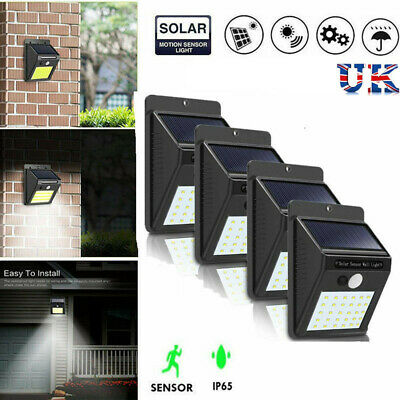 30/48LED Solar Powered PIR Motion Sensor Wall Security Light Garden Outdoor Lamp
