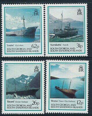 1990 South Georgia Shipwrecks & Hulls Set Of 4 Fine Mint Mnh