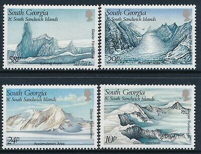 1989 South Georgia Glacier Formations Set Of 4 Fine Mint Mnh