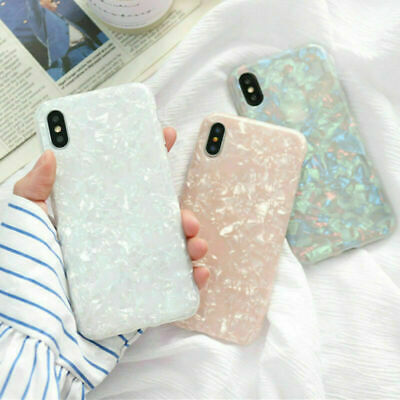 For iPhone X/XS Max/XR 7/8 Plus Marble Shockproof Silicone Protective Cover Case