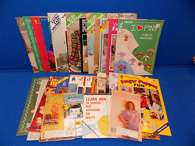 CRAFT Books Mixed Lot Patterns Fabric Painting Crochet Baby afghans Knitting Sew