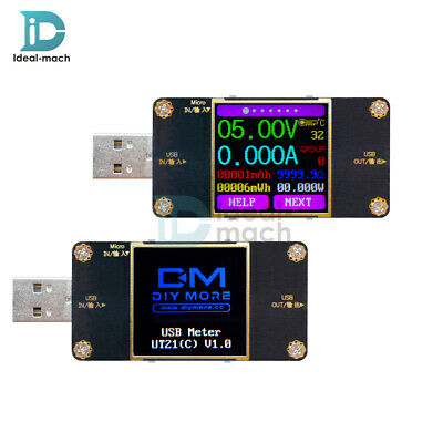 UT21 UT21B Color TFT LCD Current Voltage Power Capacity Meter USB Tester R/ UM24