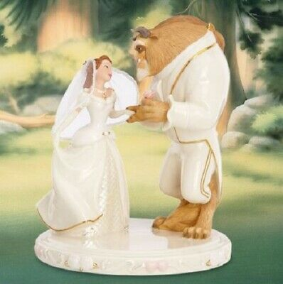 Disney Belle and the Beasts Wedding Dreams Fine China Cake Topper by Lenox