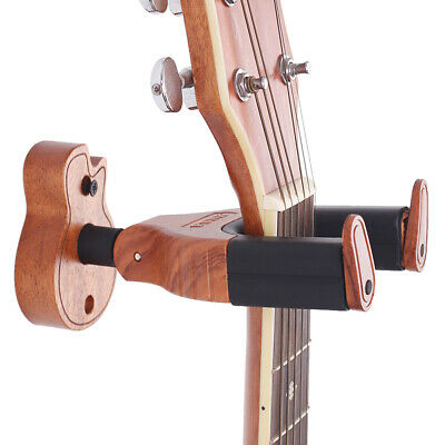 Wall Mount Wooden Auto Lock Hanger Hook Bass Acoustic Electric Guitar Holder Hot