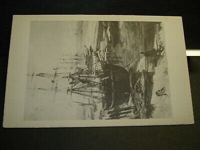 """""""The THAMES in Ice"""" by James McNeill Whistler Naval Cover unused postcard"""