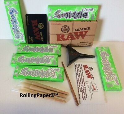 RAW 1 1/4 Cone LOADER and SMIZZLE 36 Pre-Rolled Organic Hemp Cones, JACK (83mm)