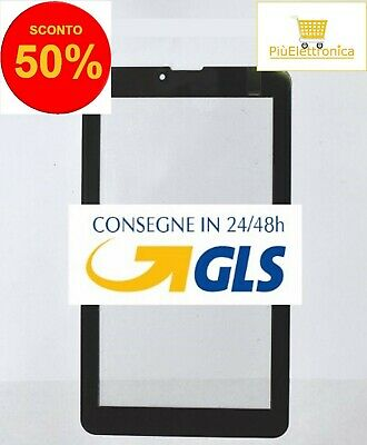 Vetro per Touch Screen Majestic Tab 527 Tab 627 Tab 647 3G Tablet Nero biadesivo