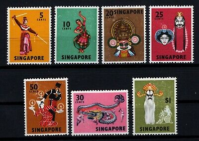 P108609/ SINGAPORE / SG # 103b / 112a / PERF. 13 / NEUFS ** / MNH 100 € COMPLETE