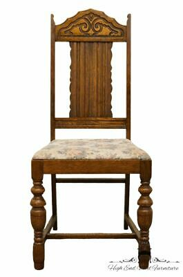 1920's Antique Vintage Gothic Revival Jacobean Dining Side Chair