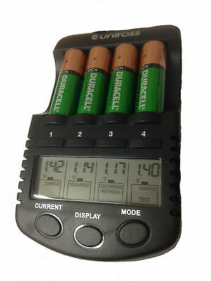 UNiROSS ULTIMATE INTELLIGENT SMART Charger for  AA/AAA Rechargeable Batteries
