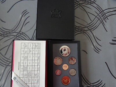 ** Beau Coffret 7 Monnaies Canada 1988 Qualite Proof