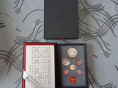 ** Beau Coffret 7 Monnaies Canada 1989 Qualite Proof
