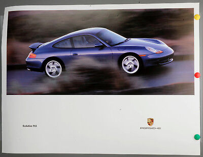 Original Plakat Porsche Evolution 911 von 6/97 Vintage Poster, Affiche Ancies
